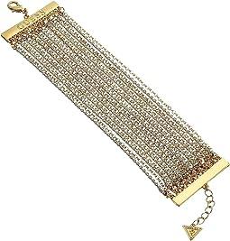 GUESS - Dainty Multi Rhinestone Chain Bracelet