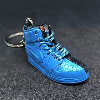 Air Jordan I 1 Retro High Quai 54 Q54 Blue Friends & Family OG Sneakers Shoes 3D Keychain 1:6 Figure