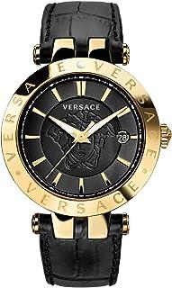 Versace Men's VQP030015 V-Race Analog Display Quartz Black Watch