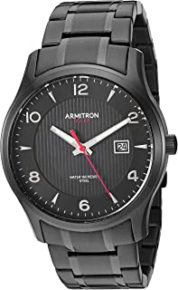 Armitron Men's Solar Powered Date Function Black Bracelet Watch, 20/5367BKTI