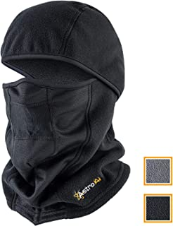 AstroAI Ski Mask Winter Balaclava Windproof Breathable Face Mask for Cold Weather (Superfine Polar Fleece, Black)
