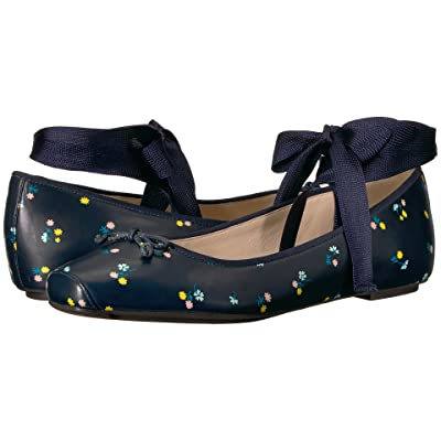 Cole Haan Downtown Ballet (Navy Floral Print) Women