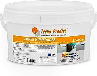 IMPER HUMEDADES de Tecno Prodist - (2,5 Kg) - Mortero para revestimiento de Impermeabilización. Tratamiento humedades muros, sótanos, etc. Impermeable al agua, fácil de usar.