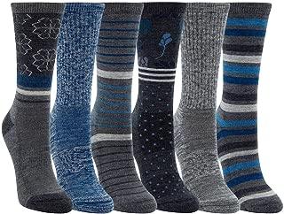 Womens 6 Pack Extra Fine Merino Wool Trail Socks