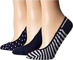 Stripes & Dots Padded Sole Liner 3-Pack