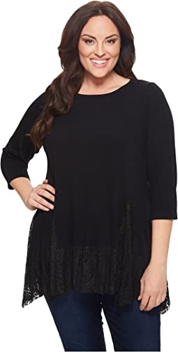 Karen Kane Plus - Plus Size Lace Inset Sweater