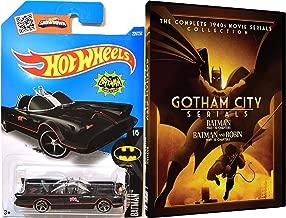 Batman: Gotham City Serials 1943 - Batman & Robin 1949 + Hot Wheels TV Series Batmobile Movie Serials Collection & Car Set