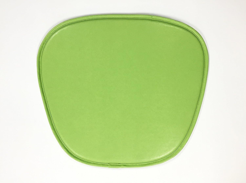 Eames Chair PU Leather Seat Pad Cushion x 4 Green