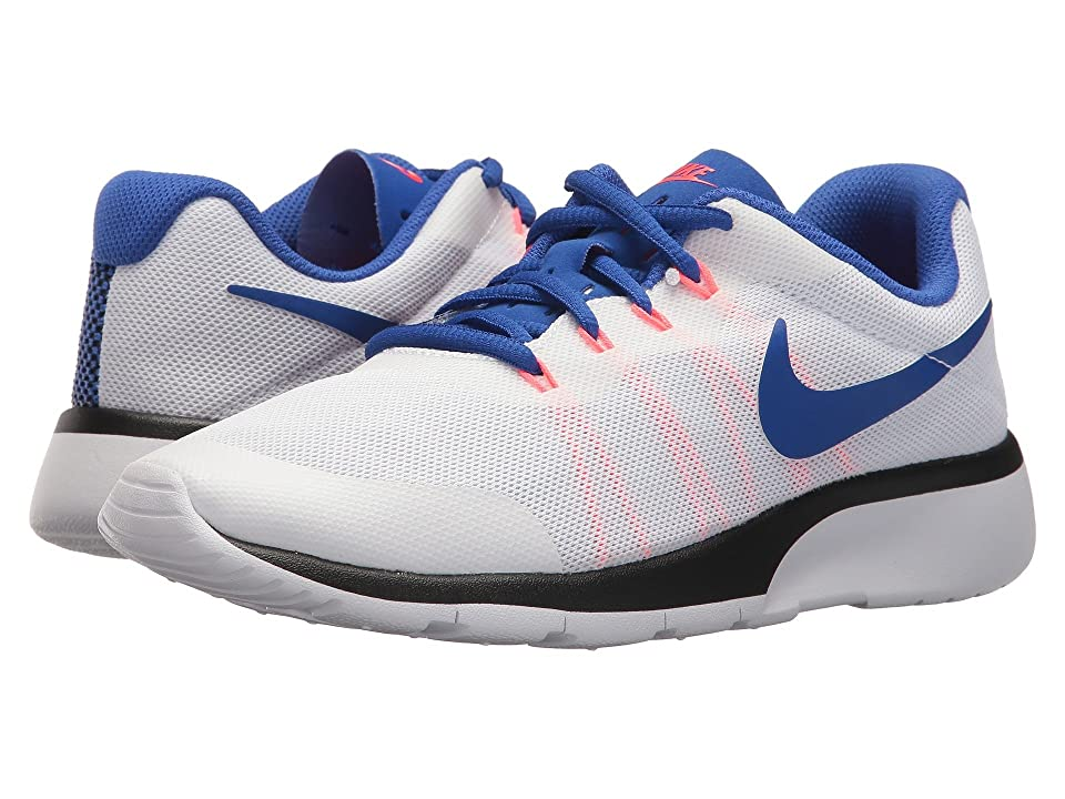 Nike Kids Tanjun Racer (Big Kid) (White/Ultramarine/Solar Red/Black) Boys Shoes
