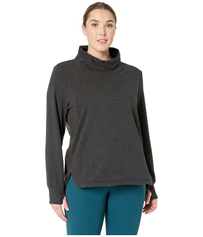SHAPE Activewear Plus Size Saturday Hoodie (Charcoal Black) Women