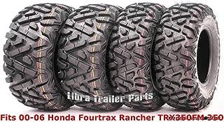 Set 4 ATV tires 24x8-12 & 24x9-11 00-06 Honda Fourtrax Rancher TRX350FM 350 4X4