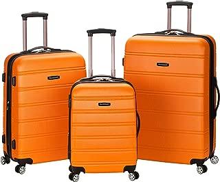 Luggage Melbourne 3 Pc Abs Set, Orange