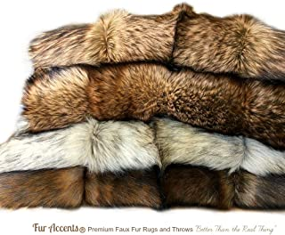 Exotic Pieced Fur - Tan Coyote - Faux Fur Throw Blanket - Extreme Luxury - Cuddle Fur Lining - Fur Accents - Hand Made - USA