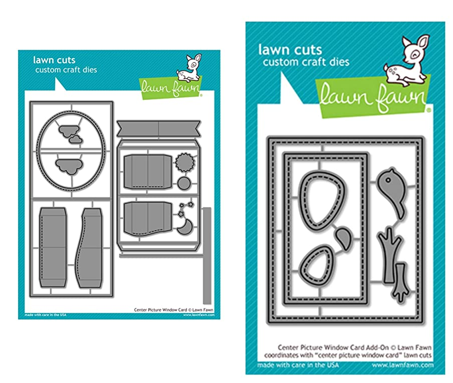 Lawn Fawn Center Picture Window Card and Window Card Add-on (LF1971, LF1972), Bundle of Two Items