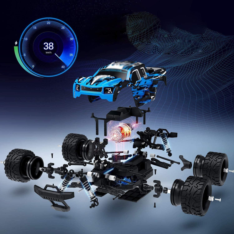 Off-road afstandsbediening auto mini-auto snel speelduur van 65 minuten onafhankelijke wielophanging systeem is geschikt voor gebruik binnen en buiten,Blue Blue