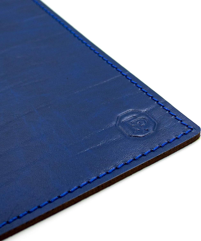 Fabriqu/é en Italie Sous-main pour bureau et tapis dordinateur en cuir fabrication artisanale FP Pelletterie 80 x 50 cm Dante Bord/ò