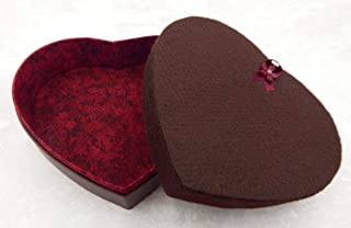 Empty Heart Box for 12 to 16 Art Glass Chocolates