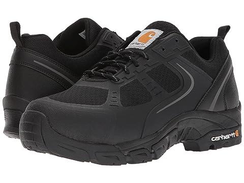 Men's Carhartt CMO3251 Lightweight Low Steel Toe Shoe, Size: 8.5 W, Black Mesh/Synthetic