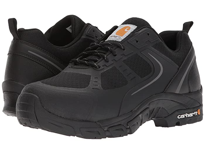 Carhartt  Lightweight Low Work Hiker Boot Steel Toe (Black Nylon Mesh) Mens Work Lace-up Boots