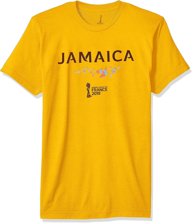 FIFA Mens FFWF002210001005 Officially Licensed Jamaica Men's Tee Short Sleeve Shirt