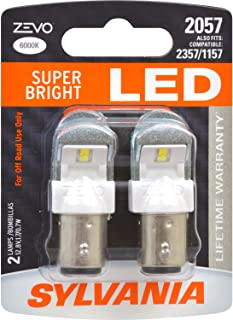 SYLVANIA - 2057 ZEVO LED White Bulb - Bright LED Bulb, Ideal for Daytime Running