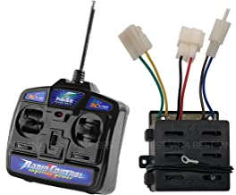 27MHz Remote Control and 12V Receiver Kit, Transmitter Controllrer Control Box Accessories for Kids Ride On Car Replacement Parts