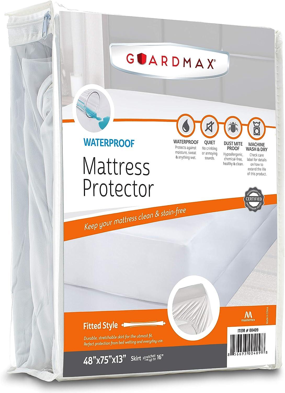 Guardmax Three Quarter Super sale Mattress Waterproof Cover Protector depot Fitt