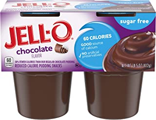 JELL-O Chocolate Sugar Free Dessert Pudding (14.5 oz Package, 4 Cups)