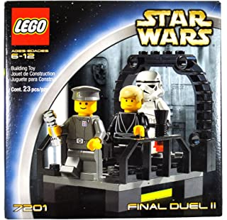 Lego Year 2002 Star Wars Series Movie Scene Set # 7201 - FINAL DUEL II with Walkway on the Second Death Star Plus Luke Skywalker as Jedi Knight, Imperial Officer and Stormtrooper Minifigures (Total Pieces: 23) by LEGO