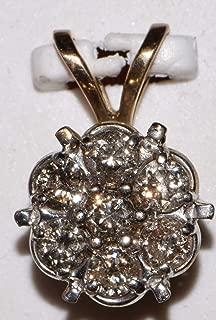 10k Yellow Gold Diamond Flower Style Pendant