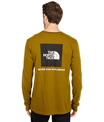 The North Face Box Nse Long Sleeve Tee (Fir Green) Men