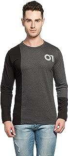 Alan Jones Solid Men's Round Neck Full Sleeve Cotton T-Shirt