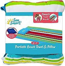 SUNSMART BEACH TOWEL PILLOW WITH INFLATABLE PILLOW
