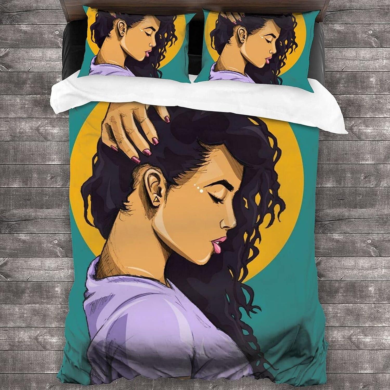 ROGERDAJ Black Girl San Francisco Mall 3-Piece Bedding X70 Sale Special Price 86 Set Comfortable Soft