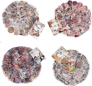 Ulikey Scrapbooking Autocollants, Washi Autocollants Vintage Scrapbooking Étiquettes Décoratives Autocollants pour DIY Alb...