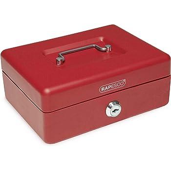 Rapesco money - Caja fuerte portátil de 20 cm de ancho con ...