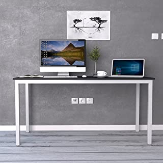 Need Computer Desk 63 inches Large Desk Writing Desk with BIFMA Certification Workstation Office Desk,Black White AC3CW-160