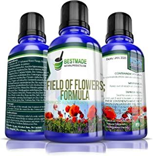 Field of Flowers Formula 10mL, A Combination of All 37 Advanced Flower Remedies, Natural Relief for Emotional Symptoms Like Anxiety, Fear & Despair, No Side Effects, Safe for All Family Members