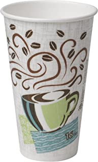 Dixie PerfecTouch 16 oz. Insulated Paper Hot Coffee Cup by GP PRO (Georgia-Pacific), Coffee Haze, 5356DX, 500 Count (25 Cups Per Sleeve, 20 Sleeves Per Case)