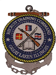 RECRUIT TRAINING COMMAND GREAT LAKES PATCH - Sculpted Cutout Color - Veteran Owned Business