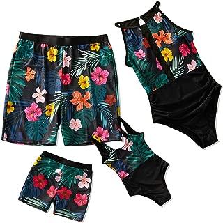 Yaffi Family Matching Swimwear 2019 Newest One Piece Bathing Suit Fast Foods Printed Monokini Beach Wear