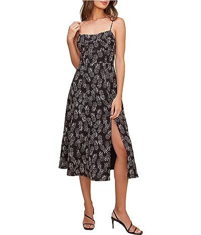 ASTR the Label Keilani Dress (Black Cream Pineapple Print) Women