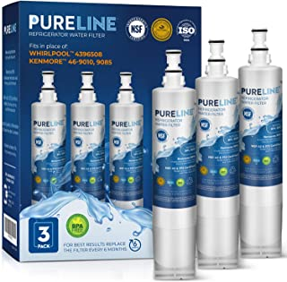 Kenmore 9085 and 46-9010 Water Filter Replacement. Compatible Filter for Kenmore 9085, 9010 and Whirlpool 4396508, 4396510, NLC240V, Everydrop Filter 5. -PURELINE (3 Pack)