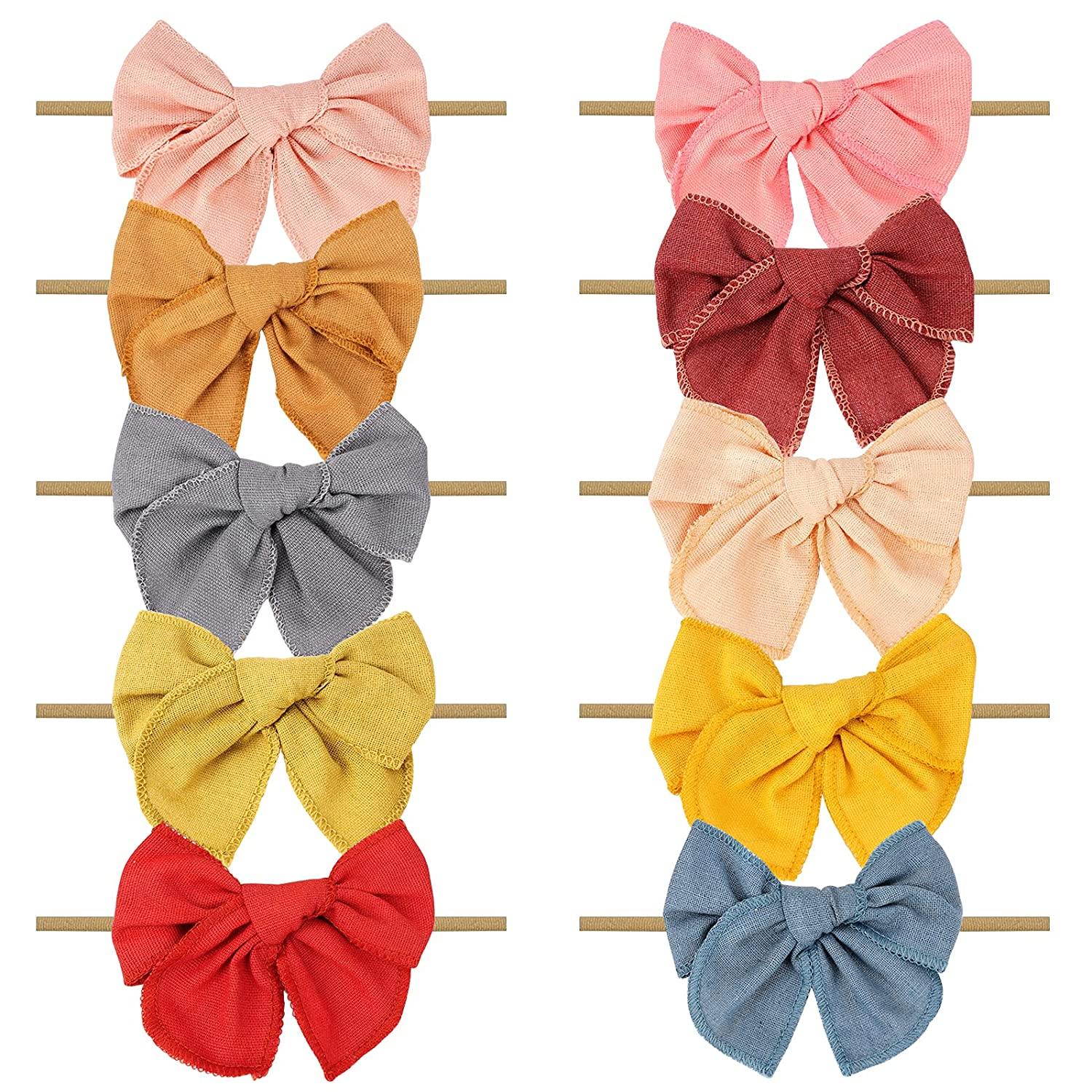 Baby Girl Headbands and Washington Mall At the price Hair Bows for Hairbands Stretchy Nylon