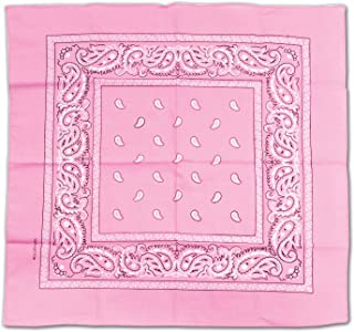 Beistle 60753-P Bandana, 22-Inch by 22-Inch, Pink