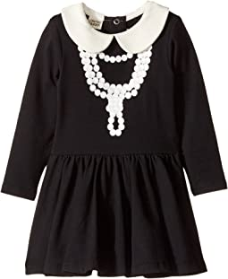 Coco-Pearl Necklace Waisted Dress (Infant)