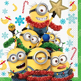 Despicable Me Minions Christmas Party Lunch Napkins (16 Count)
