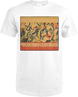 The Architects Present - A Latin Quarter Fete Vintage Poster (artist: Welsh) USA c. 1932 72835 (Premium White T-Shirt Medium)