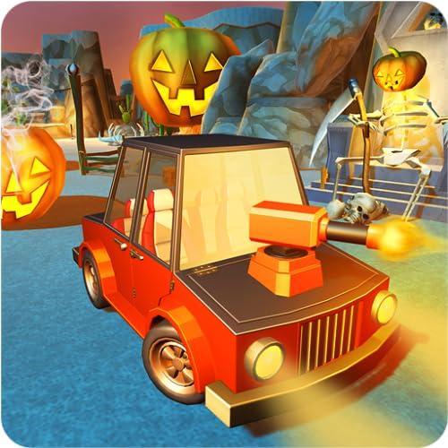 Furchtsames Halloween-Schießen-Auto