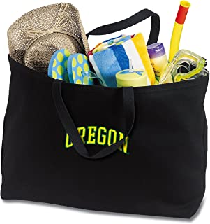 Broad Bay Jumbo UO Tote Bag or Large Canvas University of Oregon Shopping Bag